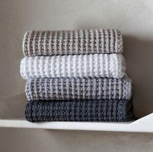 Aura Towel By graccioza European bath linen -38x59- WHITE