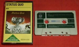 STATUS QUO - CASSETTE TAPE - QUO - WITH PAPER LABELS