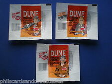 Dune  Bubblegum Card Wrappers - Set of 3 - 1984  Fleer