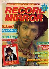 Kevin Rowland on Magazine Cover 16 October 1982  Eddy Grant  Beki Bondage  AC/DC