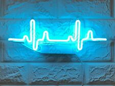 """New Beating Heart Rate Acrylic Lamp Wall Decor Artwork Neon Light Sign 15""""x 6"""""""