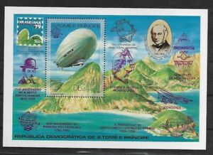 SMT, S/TOME ET PRINCIPE Graf Zeppelin' with variety SILVER and VIOLET overp. MNH