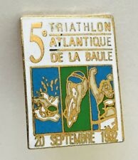 5th Atlantic Triathlon 1992 Atlantique De La Baule Pin Badge Vintage (C3)