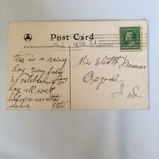 St. Anthony's Hospital Terre Haute Indiana Postmark 1909 Posted Postcard