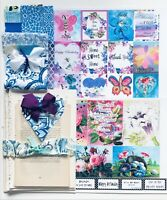 Junk Journal & Scrapbook Page Kit Vintage Book Pages, Quotes, Fabrics, 100 items