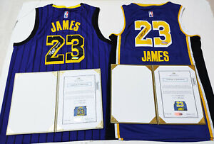 LA Lakers #23 Autographed Yellow+Black 2Jerseys Collection COA, Certified Item