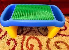 "LEGO Duplo Lap Table Desk w/ Side Storage Compartments Bins 25"" x 12"" x 12"""