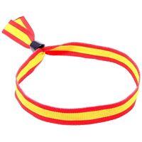 PULSERA BANDERA ESPAÑA 10 MM ANCHO 31 CM LARGO Spanish Flag Bracelet