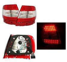 2 FEUX ARRIERE LED ROUGE CRYSTAL ET BLANC POUR AUDI A4 B5 DE 11/94 A 11/00