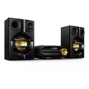 Philips FX10 Mini Hi-Fi Home Stereo Bluetooth Music System with Dual Amplifier