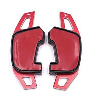 DSG Schaltwippen Verlängerung Shift Paddle ALU Rot für VW Golf 7 GTI R GTD