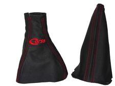 """Engranaje & Freno De Mano Polaina Para Vauxhall Corsa C 2000-06 de cuero con logotipo en rojo """"Corsa"""""""