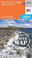 OS Explorer Map Active (332) Alnwick and Amble, Craster and Whittingham (OS Expl
