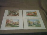 4 Vintage Farmers Museum Cooperstown NY. Placemats w/Artwork by A.R. Herrick