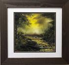 "Bob Ross ""Mid Summer Glow"" Happy Trees CUSTOM FRAMED ART Nature  Print Forest"