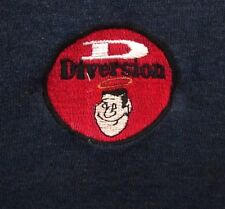 DIVERSION beat-up hooded sweatshirt XL halo logo embroidery hoodie