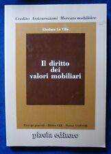 G. LA VILLA - DIRITTO DEI VALORI MOBILIARI - 1991