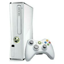 Microsoft Xbox 360 S Slim 4GB Glossy WHITE Video Game Console System Gaming LIVE