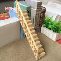 Dollhouse Miniature Furniture DIY Straight Staircase w/ Left Handrail Stair Step