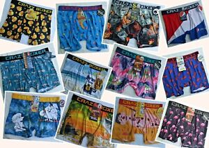 Crazy Boxer Underwear Co. Mens Boxer Briefs Ultra Comfortable Choose Your Design