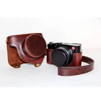 Brown cover camera storage bag Shoulder protector case for LEICA D-LUX typ 109