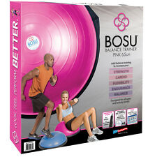 Rosa Bosu Ball Balance Trainer & 6 DVD Fitness Allenamento Video New-Ships