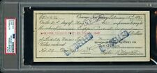 FEB 1921 THOMAS EDISON HAND SIGNED PERSONAL CHECK PROMISSORY NOTE AUTO PSA/DNA