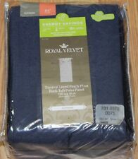 "ROYAL VELVET ""SUPREME"" PINCH-PLEAT THERMAL PATIO CURTAIN/PANEL,100""X84"",DR.BLUE"