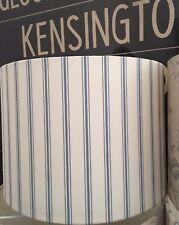 HANDMADE LAMPSHADE IN LAURA ASHLEY 'FARNWORTH' DARK SEASPRAY STRIPE BLUE WHITE