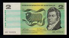 AUSTRALIA  2 DOLLARS ( 1968 ) GRC PICK # 38c AU BANKNOTE.