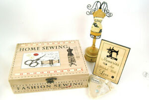Sewing Gift Set Storage Sewing Box  Love Plaque Jewellery Mannequin & Home Heart
