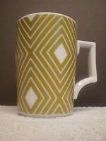 Starbucks Coffee Mug 2013 Holiday Gold White Geometric ROSANNA 12 oz Germany