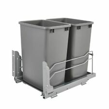 Rev A Shelf  Double 35 Quart Undermount Pullout Waste Container (Open Box)