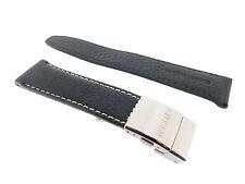 Citizen  Original  22mm  Black Leather Genuine Watch Band 59-S50810  BJ7010