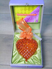 New Religious Inspiration Heart Of A Woman Glass Ornament w/ Swarovski Crystals!