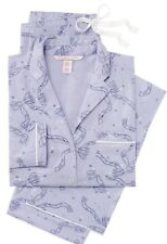 Victoria's Secret Dreamer Lavender Flannel Pajamas Bows XL