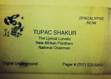 Tupac Shakur (2Pac) Official Pager Number with New Pager and 1 Year Service NEW