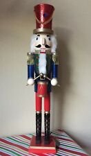 "BOMBAY Company 24"" TALL Wooden NUTCRACKER New Red / Green / Blue / Gold SOLDIER"