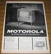 1963 AD~1964 MOTOROLA TV~EARLY AMERICAN LOOK TELEVISION
