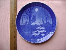 1974 Royal Copenhagen Plate - Winter Twilight - Shows an Owl under the Moon