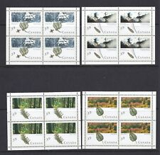 CANADA 1990 FORESTS Sc 1283a-86a sheetlets/4 MNH