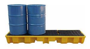 4 Drum In-Line Spill Pallet Bunded drum storage
