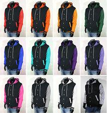 New Mens Womens College Varsity Baseball Jacket Hoodie Quality XS S M L XL 2XL