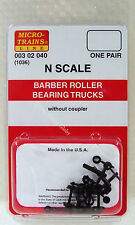 Micro-Trains 00302040 N 1036 Barber Roller Bearing Trucks without Coupler. New