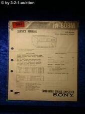 Sony Service Manual TA 808M Amplifier  (#0592)