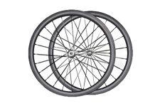 25mm wide carbon wheels 38mm depth clincher road bicycle basalt surface 3k matt