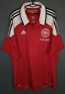 MEN'S DENMARK NATIONAL 2012/2013 DANSK HOME SOCCER FOOTBALL SHIRT JERSEY SIZE XL