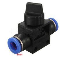 8-Válvula neumática 8 mm recto calce ajuste rápido empuje Tubo Accesorios de aire de 2 vías