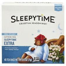 Celestial Seasonings Sleepy Time Extra Tea Herbal Caffeine Free 40 Bags 2.5 oz