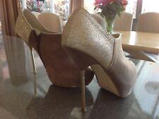 Ladies Shoe - Mink Size 6 Dorothy Perkins Formal Ankle